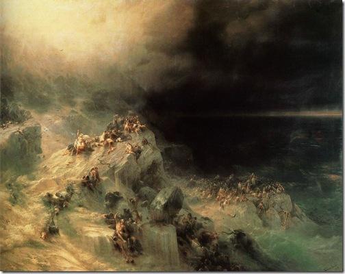 Deluge (World Deluge), 1864, Ivan Aivazovsky