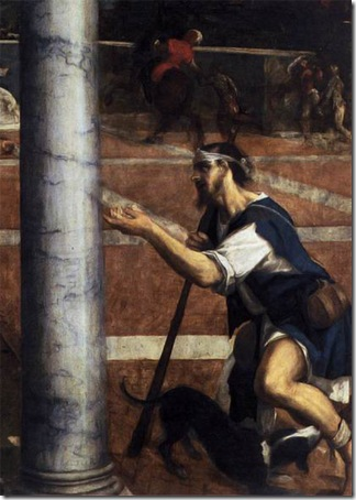 "DETAIL: The rich man and Lazarus (""Dives and Lazarus""), 1540s, Bonifacio Veronese"