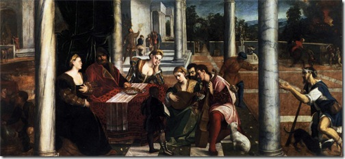 "The rich man and Lazarus (""Dives and Lazarus""), 1540s, Bonifacio Veronese"