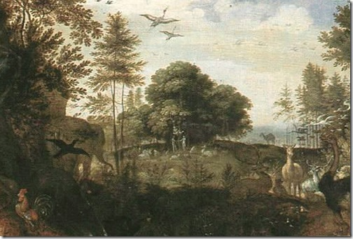 DETAIL: Garden of Eden, first half of 17th century, Roelandt Savery
