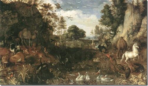 Garden of Eden, first half of 17th century, Roelandt Savery
