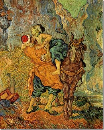 The Good Samaritan, After Delacroix (De barmhartige Samaritaan, naar Delacroix), Saint-Rémy, May, 1890, Vincent Van Gogh