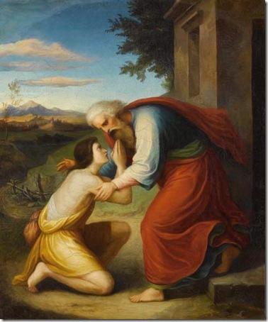 The prodigal son (Der Verlorene Sohn), 1845, Friedrich Giessmann
