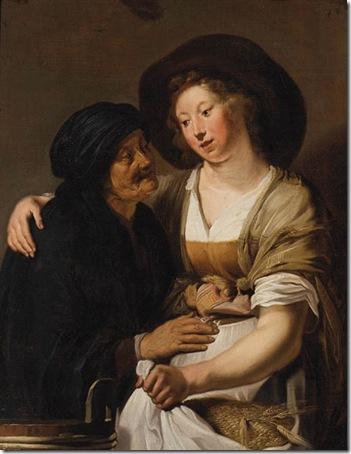 Ruth and Naomi, Circle of Pieter Fransz de Grebber
