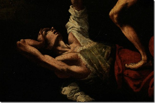DETAIL: Cain Slaying Abel, Follower of Caravaggio