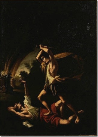 Cain Slaying Abel, Follower of Caravaggio