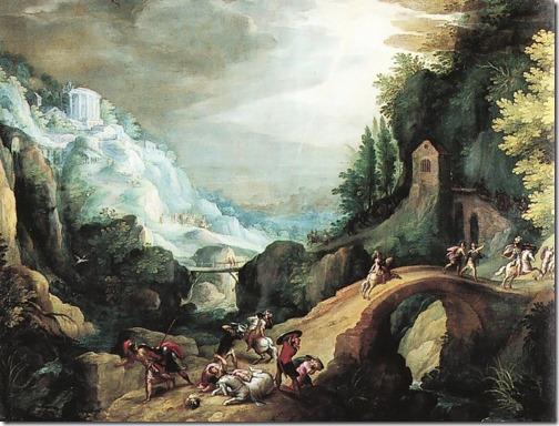 Landscape with the Conversion of Saint Paul  (Paesaggio con La Conversione di San Paolo), 1590-1599, Paul Bril