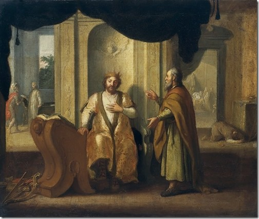 David and Nathan, 1672, Matthias Scheits
