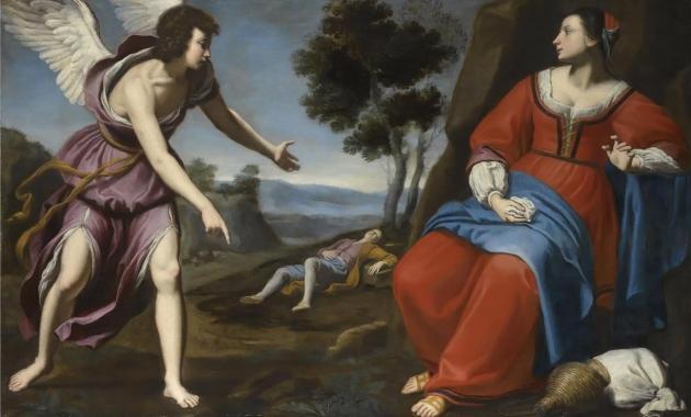 Hagar and Ishmael in the Desert, ca. 1638, Lorenzo Lippi