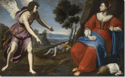 Hagar and Ishmael in the Desert, ca. 1638, Lorenzo Lippi