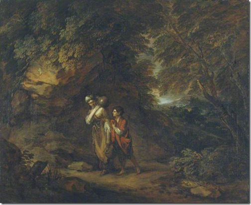 Rocky landscape with Hagar and Ishmael, ca.1788, Thomas Gainsborough