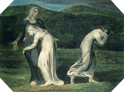 Naomi entreating Ruth and Orpah to return to the land of Moab, 1795, William Blake