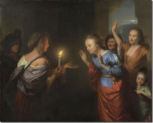 The parable of the lost piece of silver, 1665-70, Godfried Schalcken