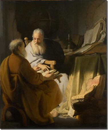 Two Old Men Disputing (St. Peter and St. Paul in Conversation), 1628, Rembrandt van Rijn