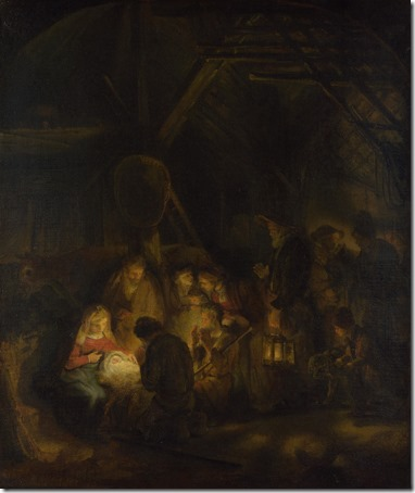 The Adoration of the Shepherds, 1646, Pupil of Rembrandt van Rijn