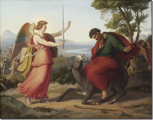 Balaam and the Angel (Bileam und der Engel), 1836, Gustav Jaeger