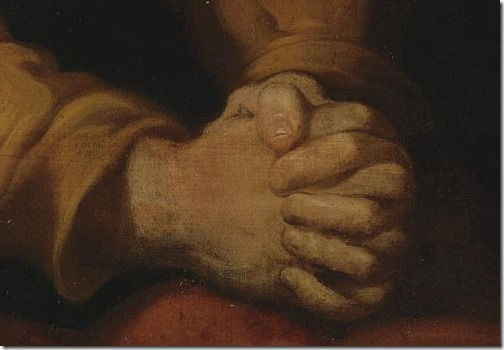 "DETAIL: St. Peter (""Penitent Saint Peter""), first half of 17th century, Luciano Borzone"