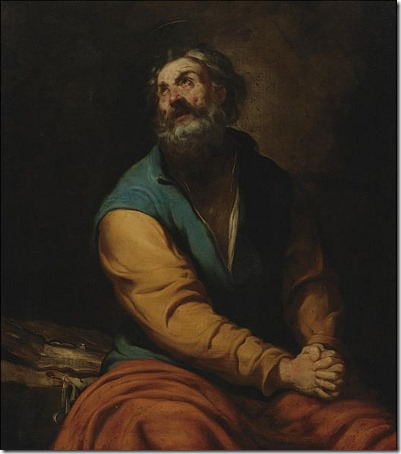 "St. Peter (""Penitent Saint Peter""), first half of 17th century, Luciano Borzone"