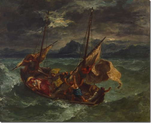 Christ on the Sea of Galilee, 1854, Eugène Delacroix