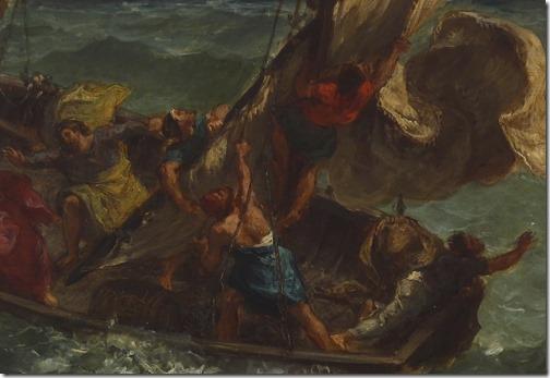 DETAIL: Christ on the Sea of Galilee, 1854, Eugène Delacroix