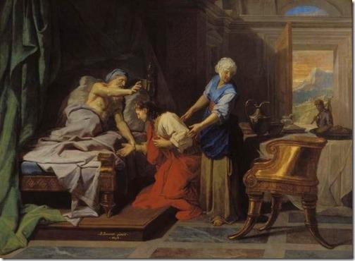 Isaac Blessing Jacob (Isaac Benissant Jacob),  1692, Jean-Baptiste Jouvenet