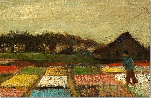 "DETAIL: Flower Beds in Holland (""Bulb Fields""), 1883, Vincent van Gogh"