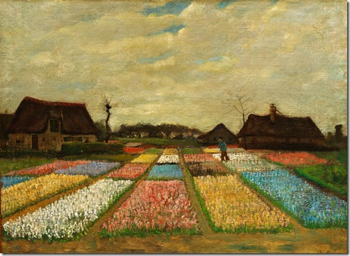 "Flower Beds in Holland (""Bulb Fields""), 1883, Vincent van Gogh"