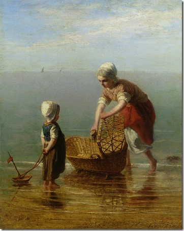 Mother and Child by the Sea, Jozef Israëls