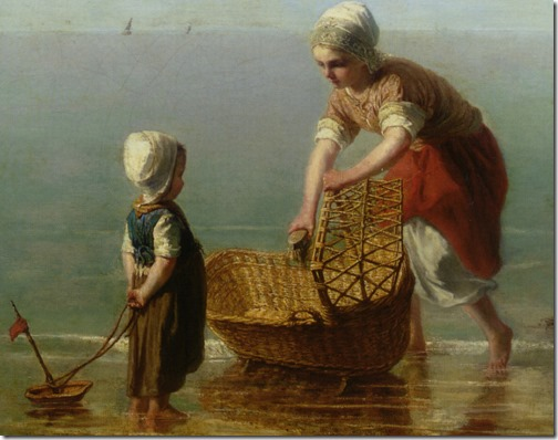 DETAIL: Mother and Child by the Sea, Jozef Israëls