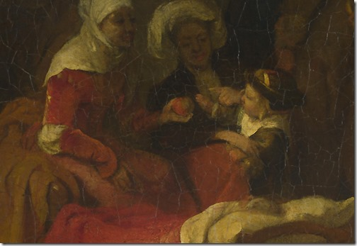 DETAIL: The Naming of Saint John the Baptist, c. 1650-1655, Barent Fabritius