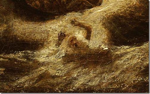 DETAIL:  Jonah, ca. 1885-1895, Albert Pinkham Ryder