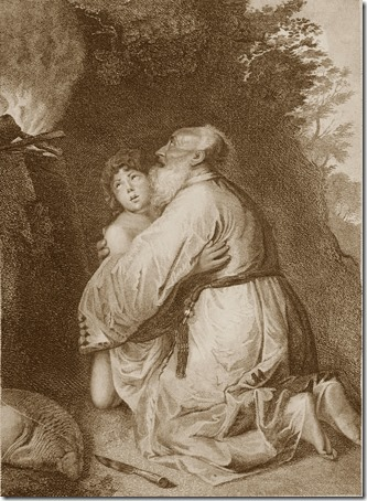Abraham and Isaac (The Sacrifice of Isaac / Opferung Isaaks / Le Sacrifice d'Abraham), 1787, Charles Schroeder