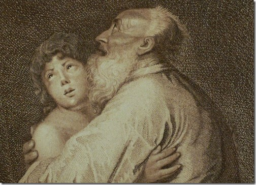 DETAIL: Abraham and Isaac (The Sacrifice of Isaac / Opferung Isaaks / Le Sacrifice d'Abraham), 1787, Charles Schroeder