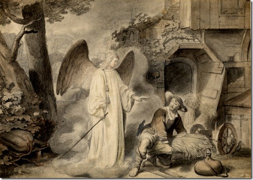 The angel appears to Gideon (L'Angelo che appare a Gedeone), ca. 1647, Gerbrand van den Eeckhout