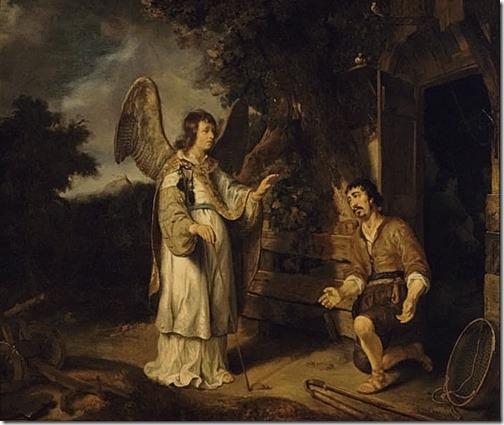 The Angel and Gideon (The angel appears to Gideon), 1640, Gerbrand van den Eeckhout