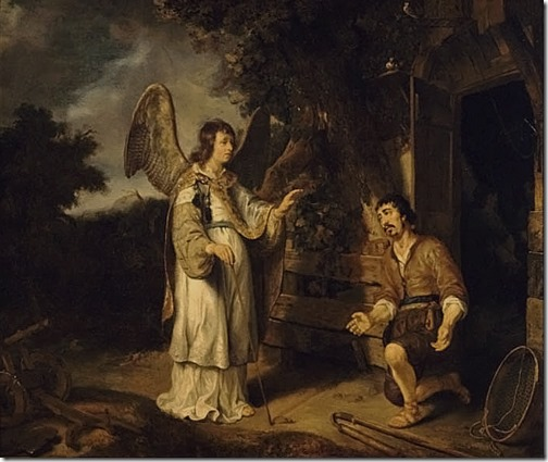 The Angel and Gideon (The angel appears to Gideon), 1640, Gerbrand van den Eeckhout