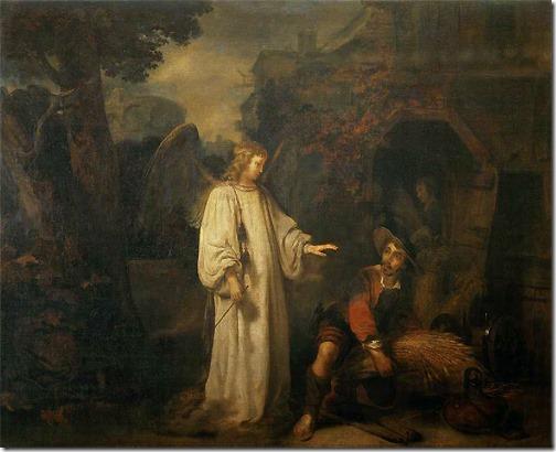 The angel appears to Gideon (Gedeone e l'angelo), 1647, Gerbrand van den Eeckhout