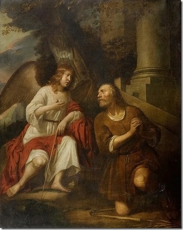 The angel visiting Gideon (Gideon und der Engel), Circle of Gerbrand van den Eeckhout