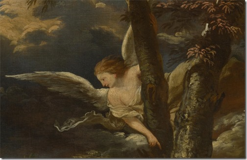 DETAIL: An Angel appears to Hagar and Ishmael in the Desert, After Salvator Rosa