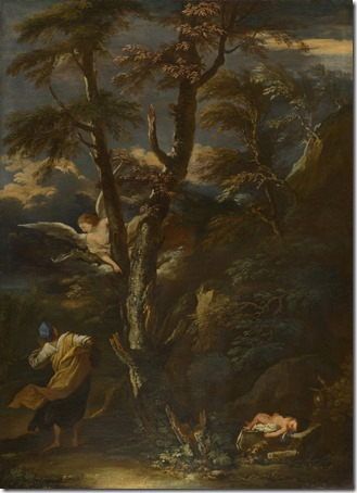 An Angel appears to Hagar and Ishmael in the Desert, After Salvator Rosa