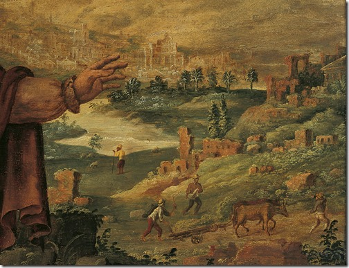DETAIL: Prophet Isaiah predicts the return of the Jews from exile (De profeet Jesaja voorspelt de terugkeer van de Joden uit de ballingschap), 1560-1565, Maarten van Heemskerck