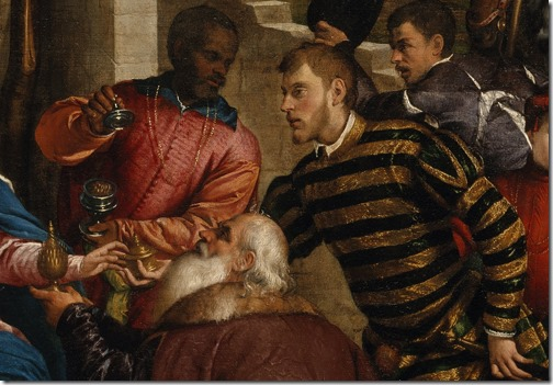 The Adoration of the Kings, early 1540s, Jacopo Bassano, detail