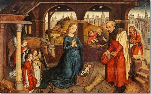 The Adoration of the Shepherds, late 15th century, Netherlandish School
