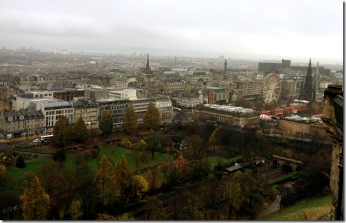 """Autumn in Edinburgh"". Panoramic View from Edinburgh Castle, Scotland"