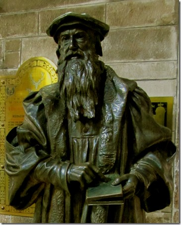 Statue of John Knox, detail, 1904, James Pittendrigh MacGillivray