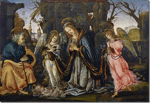 The Nativity with Two Angels, possibly early 1490s, Filippino Lippi