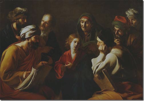 Disputa with the Doctors (Disputa con i Dottori / Disputa di Gesù con i dottori del Tempio), 1610–1620, Bartolomeo Manfredi