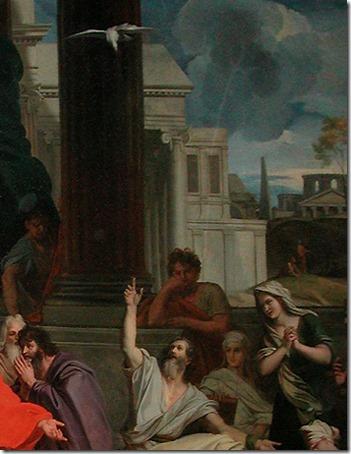 """DETAIL: """"St. Agabus Foretelling St. Paul's Imprisonment In Jerusalem"""", 1687, Louis Chéron"""
