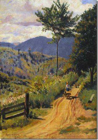 Paisagem Serrana com Personagem (Highland Landscape with Person), 1918, Alfredo Andersen