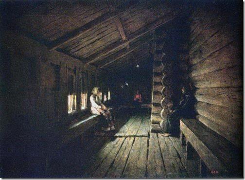 Before the Confession at the Entrance to a Village Church (Перед исповедью на паперти сельской церкви), 1888, Vasily Vereshchagin